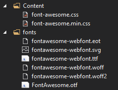Classic WPF App with Awesome Font Files